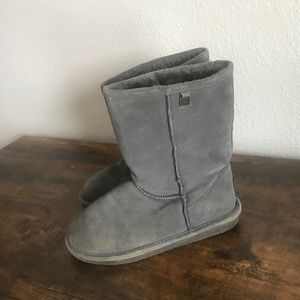 BearPaw Gray Insulated Boots